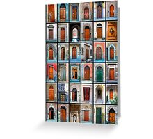 Doors of Florence and Siena Greeting Card