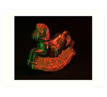 The rocking horse Art Print