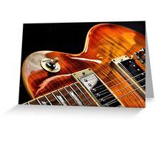 Guitar Icon : '59 Flametop Les Paul / HDR Greeting Card