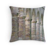 Fountain Abbey columns Throw Pillow