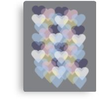 Bokeh Inspired Colorful Hearts Canvas Print