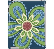 Blue and Green Cartoon Flower iPad Case/Skin