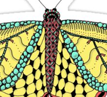 Yellow and Green Butterfly Sticker
