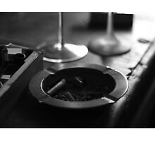Black & White Ashtray Photographic Print