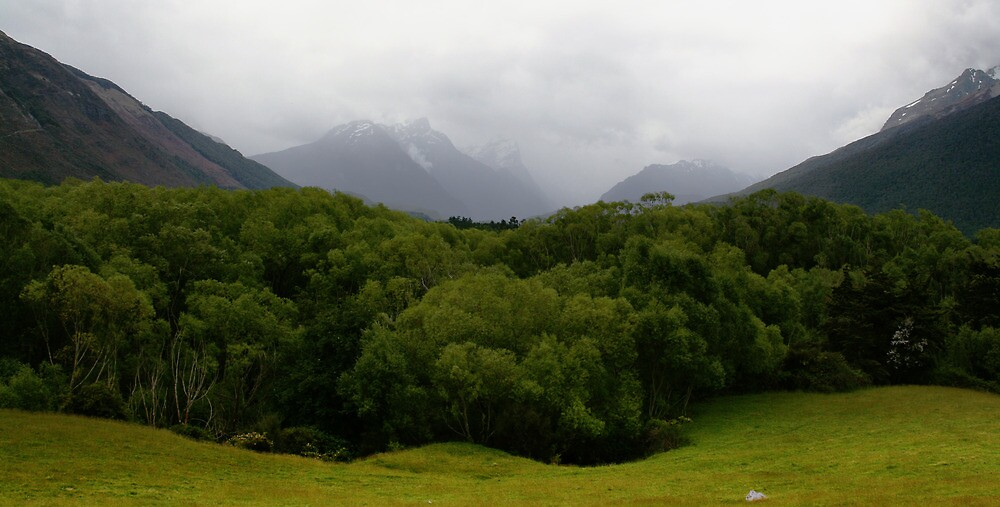 Meadow and Mountains by middleofaplace
