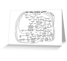 Do You Even Lift Greeting Card
