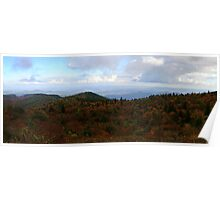 Blue Ridge Parkway in Fall Colors Poster