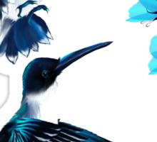 Two Blue Hummingbirds Sticker