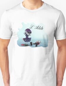 L'Artiste Cute Big Eyed Painter Girl Unisex T-Shirt