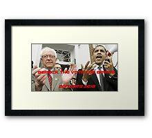 BARACK THE VOTE FOR BERNIE Framed Print