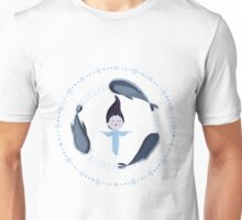 Song of the Sea - Selkie and seals - White version Unisex T-Shirt