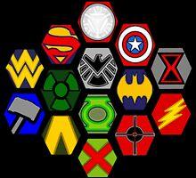 Marvel DC Comic Superhero Crossover Megaverse by BagChemistry