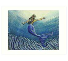 Mermaid Art  Art Print