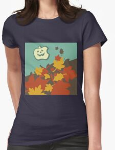 Autumn jack-o-lantern Womens Fitted T-Shirt