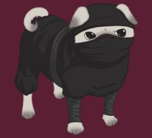Ninja Pug by Leylaleya