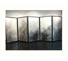 Five panel screen Art Print