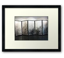 Five panel screen Framed Print