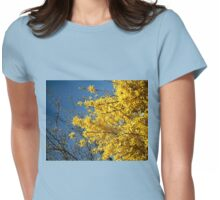 Glorious Golden Forsythia Womens Fitted T-Shirt
