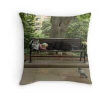 a nap. Throw Pillow
