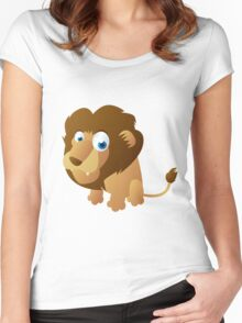 Shy little lion Women's Fitted Scoop T-Shirt