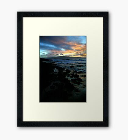 Makena Beach Sunset Framed Print