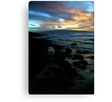 Makena Beach Sunset Canvas Print