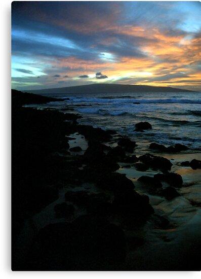 Makena Beach Sunset by Michael  Moss