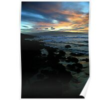Makena Beach Sunset Poster