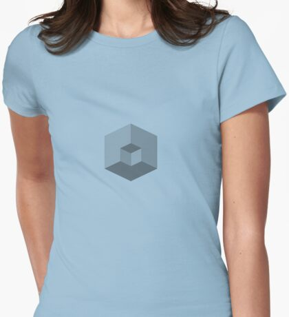 Cubes illusion Womens Fitted T-Shirt