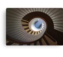 Old Point Loma Lighthouse Staircase Canvas Print