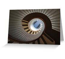 Old Point Loma Lighthouse Staircase Greeting Card