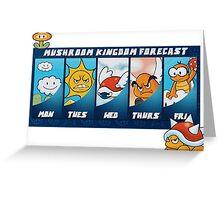 Mushroom Kingdom Forecast Greeting Card
