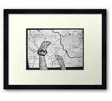 Body Maps - London - Feet Framed Print