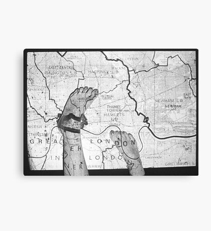 Body Maps - London - Feet Canvas Print