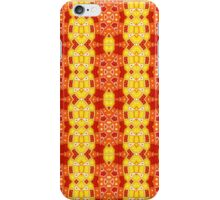 Red, Orange and Yellow Abstract Design Pattern iPhone Case/Skin