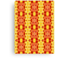 Red, Orange and Yellow Abstract Design Pattern Canvas Print
