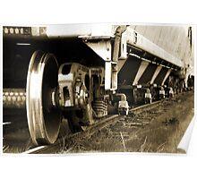 Retired Rail Cars  Poster