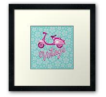Vintage moto Framed Print