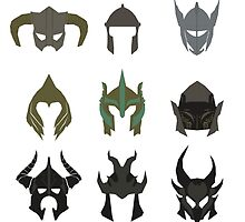 skyrim: minimalist helmets by sproutmate