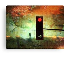 Street Lights and Cold Nights Canvas Print
