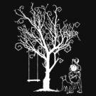 WHITE TREE WITH KIDS. by veneer