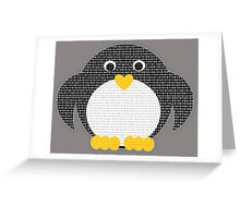 Penguin - Binary Tux Greeting Card