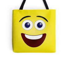 Laughing Yellow Smiley Face Tote Bag