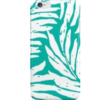 Kahanu Garden Hawaiian Palm Leaves - Peacock Green iPhone Case/Skin