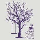PURPLE TREE WITH KIDS. by veneer