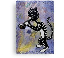 Cool Jazz Alley Cat Canvas Print