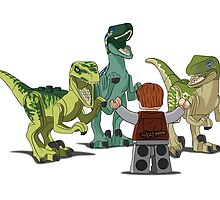 LEGO  Velociraptor Training by mellowmind