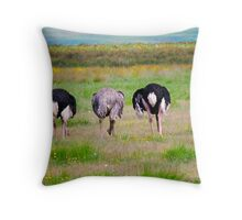 Ostrich on the Serengeti Throw Pillow