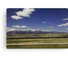 Montana Mountains and Cattle Canvas Print