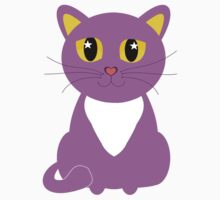 Only One Purple Kitty One Piece - Short Sleeve